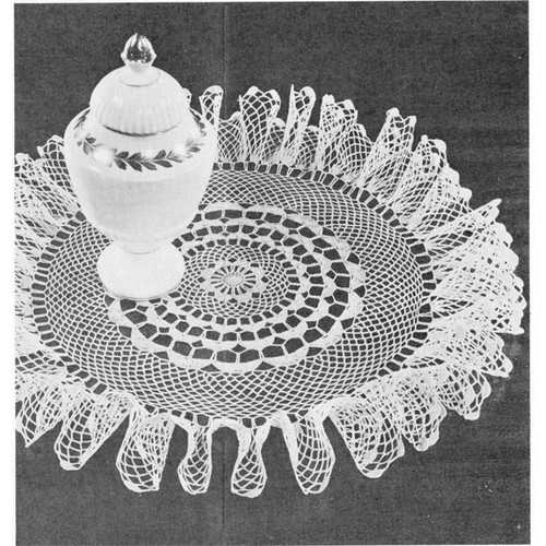 Crocheted Lazy Lagoon Ruffled Doily Crochet Pattern
