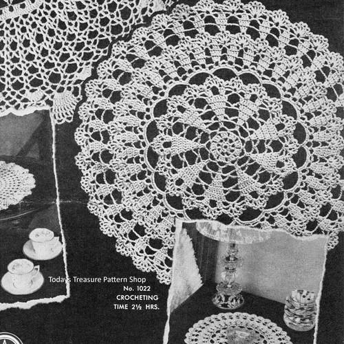 American Thread Leaflet 94, Crochet Doilies Pattern