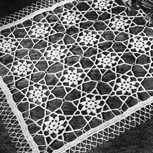 Crocheted Flower Runner Pattern