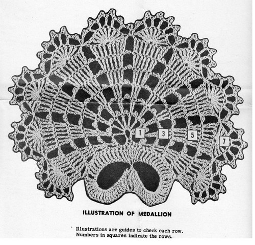 Shell Crocheted Medallion Pattern Design 548