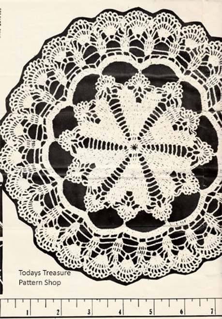 Vintage Parade Mail Order Crystal Trio Crochet Doily Pattern