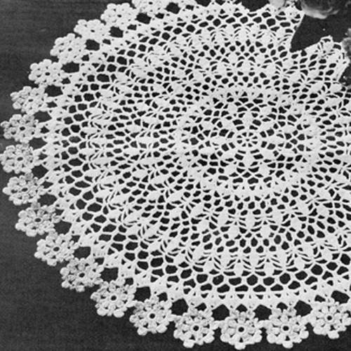 Vintage Flower Doily Crochet Pattern from National Needlecraft Bureau