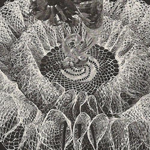 Crocheted Waterfall Doily Pattern