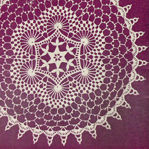 Crochet Pattern for Swirls Doily from Lily Mills