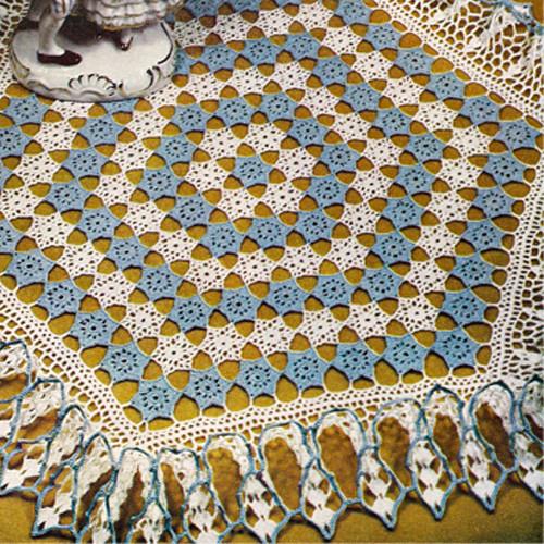 Crochet Doily Pattern Ruffled Hexagon from Lily Mills