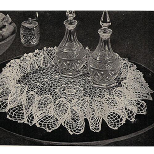 Ruffled Irish Rose Crocheted Doily Pattern