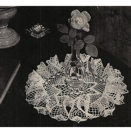 Vintage Crochet Ruffled Star Doily Pattern
