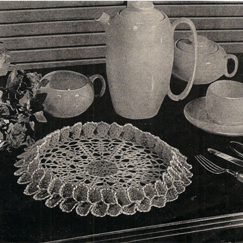 Vintage Double Ruffled Crochet Doily Pattern from American Thread