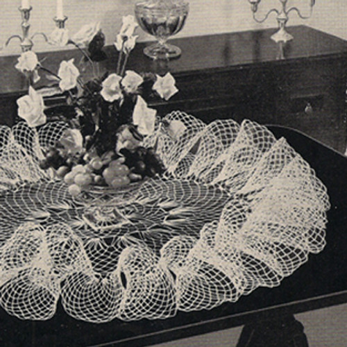 Tall Ruffled Victorian Crochet Doily Pattern