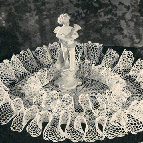 Vintage Double Ruffle Crocheted Doily Pattern