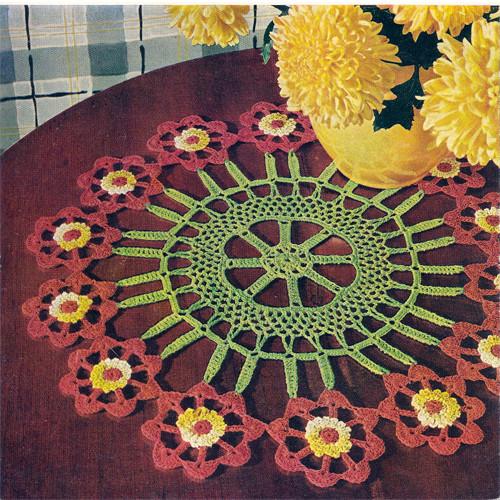 Flower Cartwheel Crochet Doily Pattern