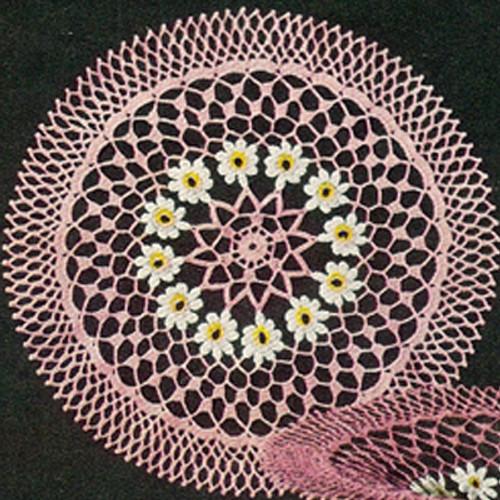 Vintage Daisy Crochet Doily Bowl Pattern