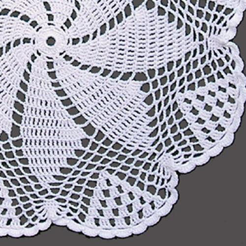 Crocheted Pinwheel Doily Pattern