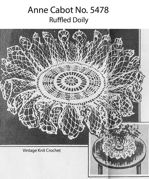 Mail Order Ruffled Doily Pattern No 5478