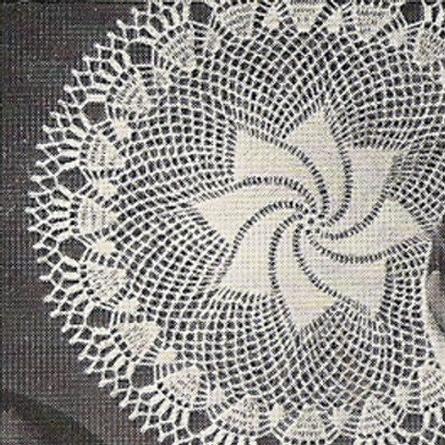 Crocheted Comets Tail Pinwheel Doily Pattern