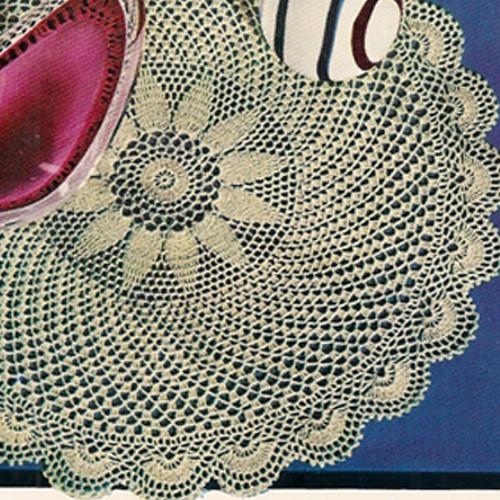 Large Flower Doily Crochet Pattern, Rippling Rythms