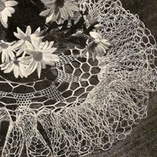 Crochet Ruffled Thistledown Doily Pattern