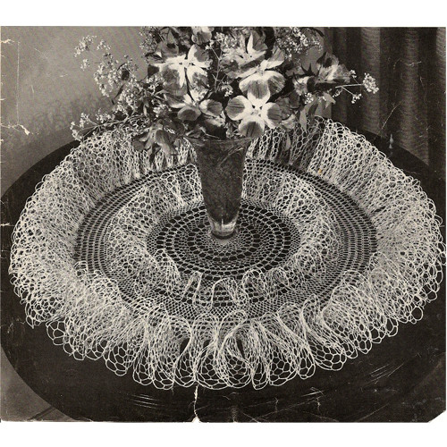 Whirlpool Ruffled Doily Crochet Pattern