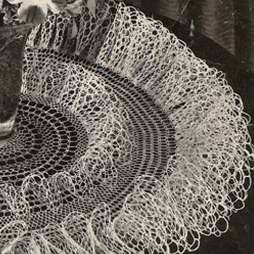 Vintage Double Ruffle Crochet Doily Pattern from Coats and Clarks