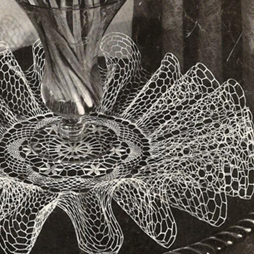 Deep Ruffled Doily Crochet Pattern, Zephyr