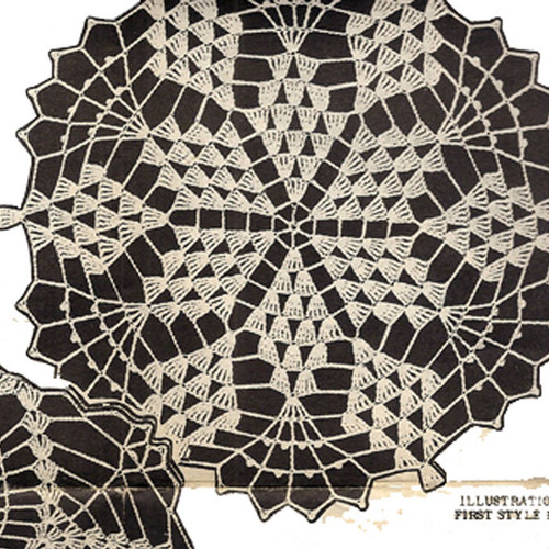 Crochet Wheat Doily Pattern