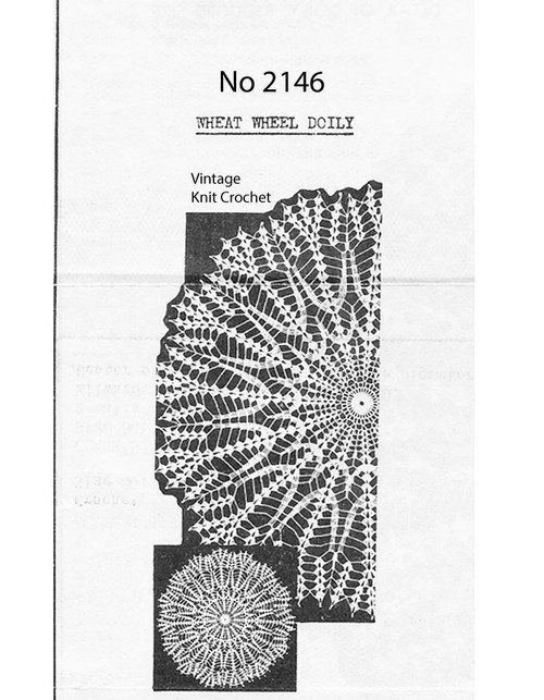 Crochet Centerpiece Wheat Doily Pattern No 2146