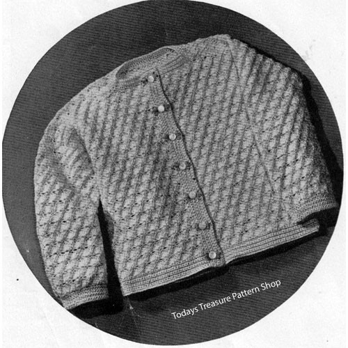 Toddler Textured Cardigan Crochet Pattern