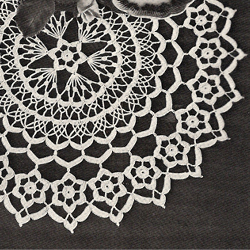 Vintage Daisy Ring Doily, Crochet Pattern