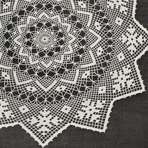 Sunburst Crochet DOily Pattern