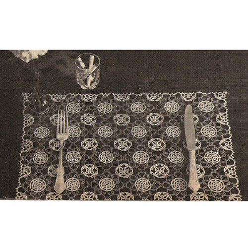 Vintage Tatted Table Mats Pattern