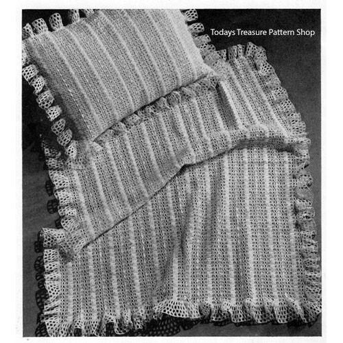 Delicate Crochet Baby Blanket Pillow Pattern