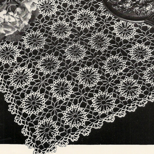 Square Dew Drop Crocheted Doily Pattern