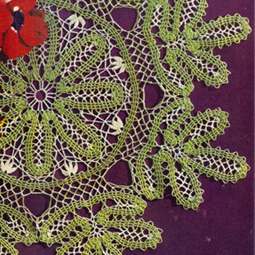 Green Leaf Doily Crochet Pattern