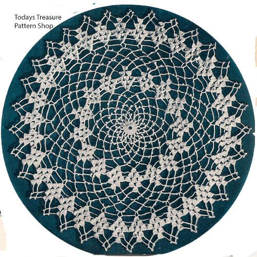 Large Picot Stitched Doily Crochet Pattern