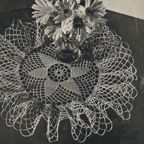 Crochet Pattern, Ruffled Star Doily