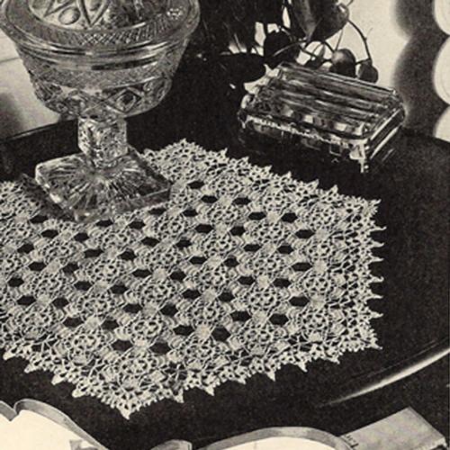 Flower Medallion Pentagon Shaded Crochet Doily Pattern