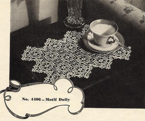 Oblong Diamond Edge Mat Crochet Pattern