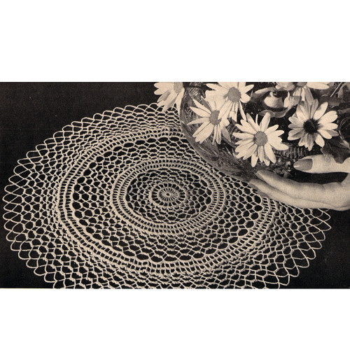Crocheted Summer Frost Doily Pattern, Vintage 1956