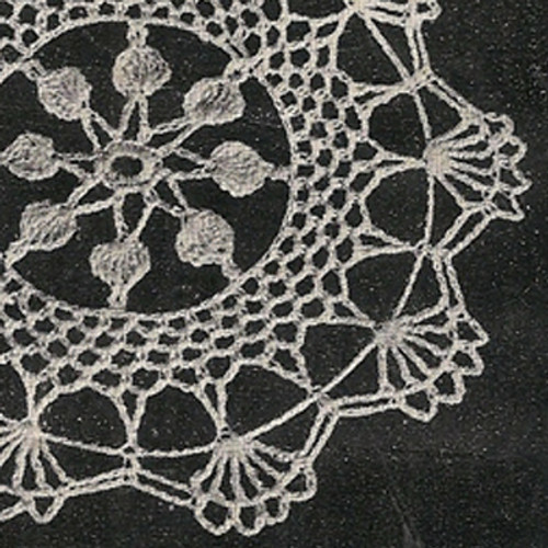 Vintage Shell Crochet Doily Pattern from Coats & Clark's