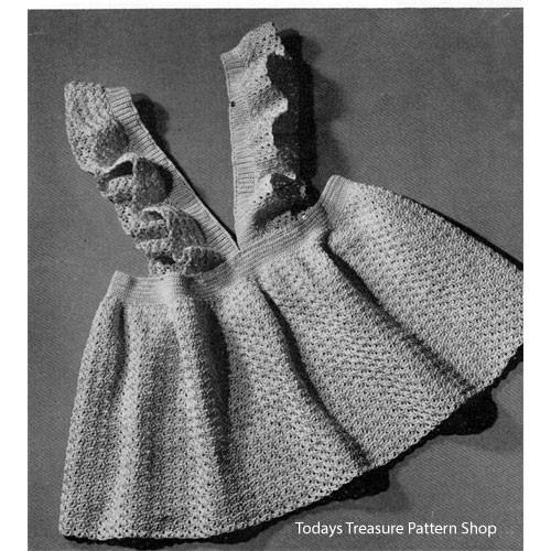 Baby Girl Pinafore Dress Crochet Pattern