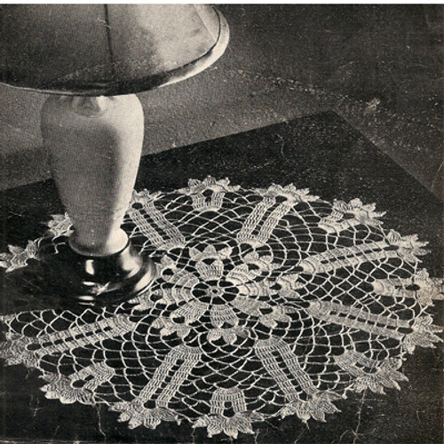 Tulip Crocheted Doily Pattern from Coats & Clark's