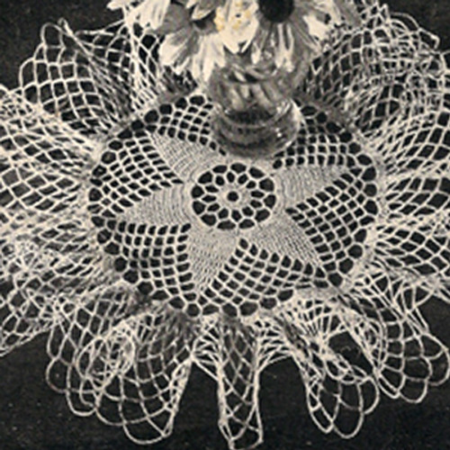 Large Ruffled Crochet Star Doily Pattern