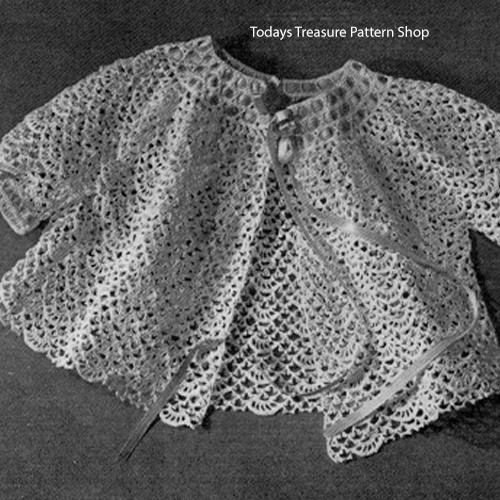 Childs Shell Jacket Crochet Pattern