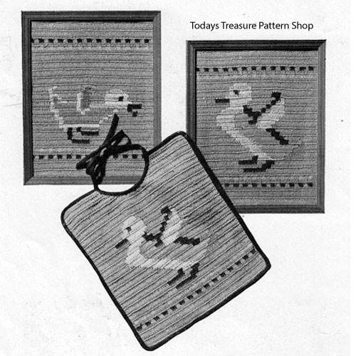 Vintage Crochet Feeding B ibs Pattern