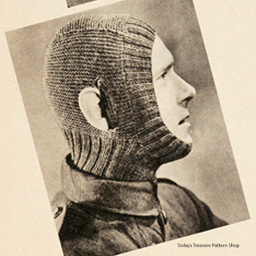 Vintage Fatigue Helmet Knitting Pattern