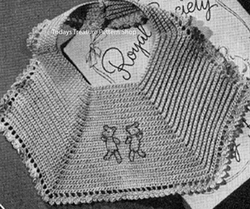 Vintage Baby Bib Crochet Pattern with Winnie the Phho