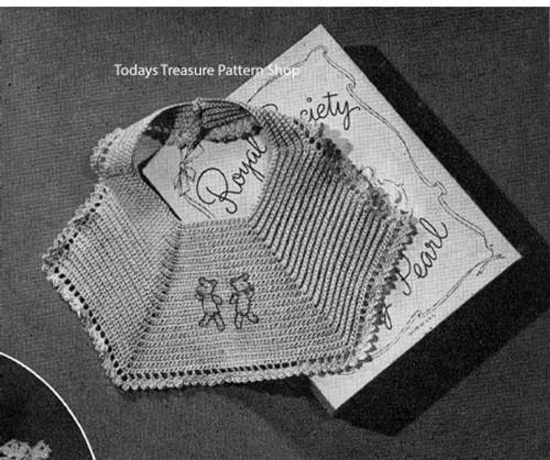Winnie the Pooh Crocheted Baby Bib Pattern