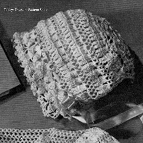 Crochet Heirloom Baby Bonnet Pattern