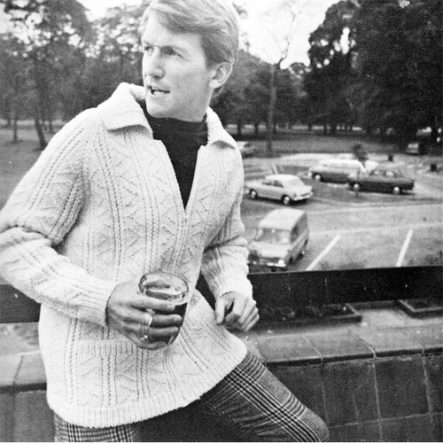 Vintage Knitted Zippered Jacket Knitting Pattern