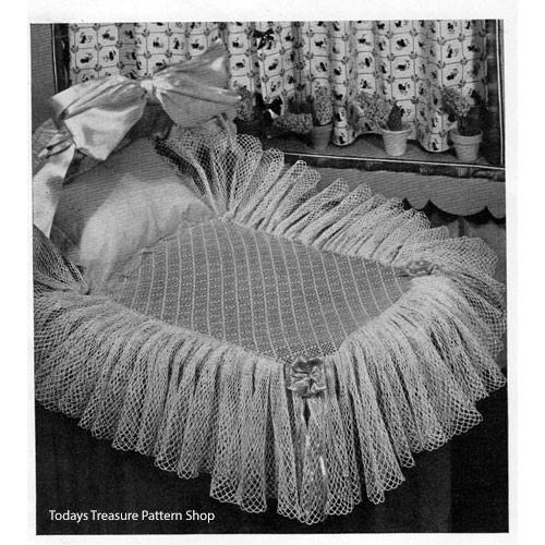 Crocheted Bassinet Skirt Pattern